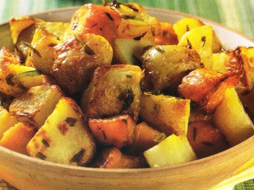 Picture of Medley Roasted Potato in a orange bowl