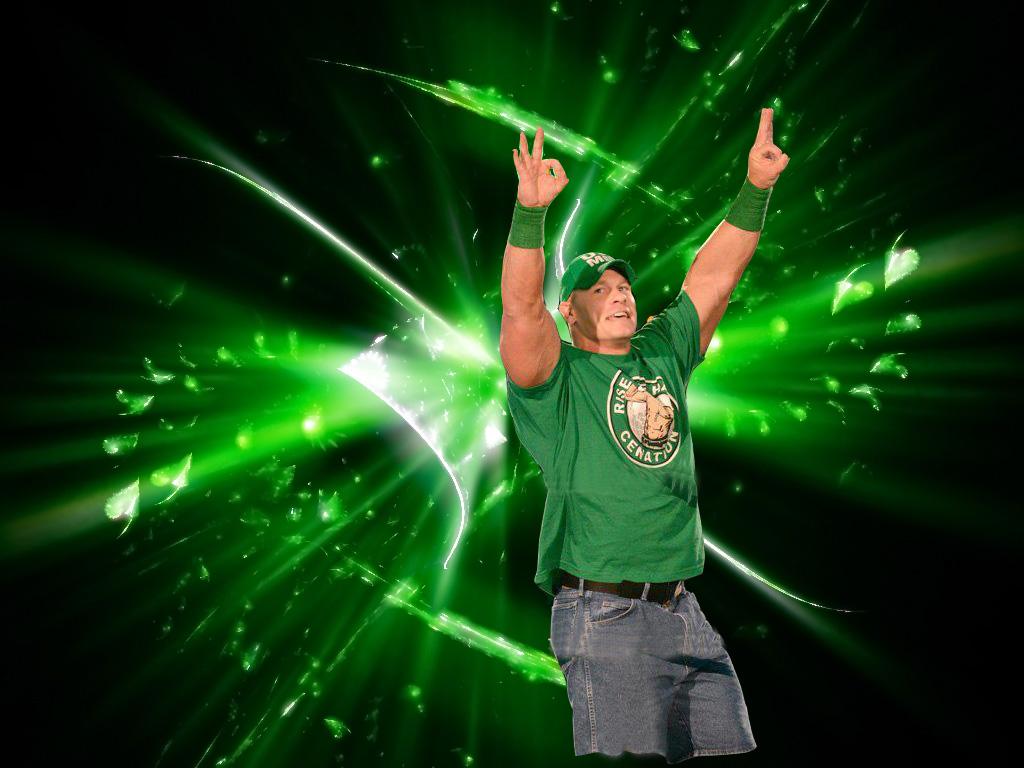 WWE John Cena 2012 Green Shirt Wallpapers