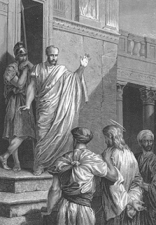 Jesus brought before Pilate - by Alexandre Bida