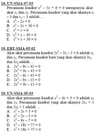 4 Soal Matematika Soal Persamaan Kuadrat Lengkap Dengan Pembahasan