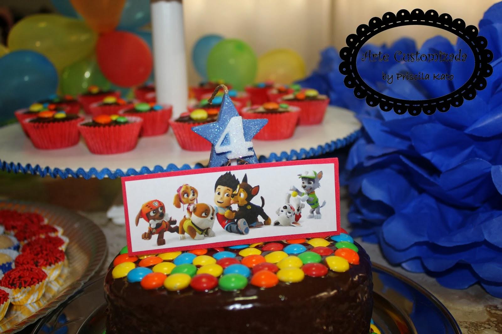 decoracao festa infantil patrulha canina : decoracao festa infantil patrulha canina:Arte Customizada by Priscila Kato: Decoração Festa Patrulha Canina