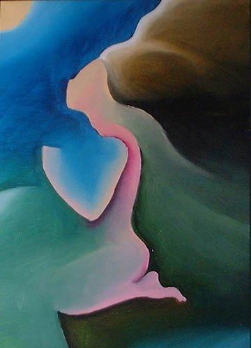 preghiera pregare luna dipinto pittura orme magiche quadro disegno pittura spirituale arte zen