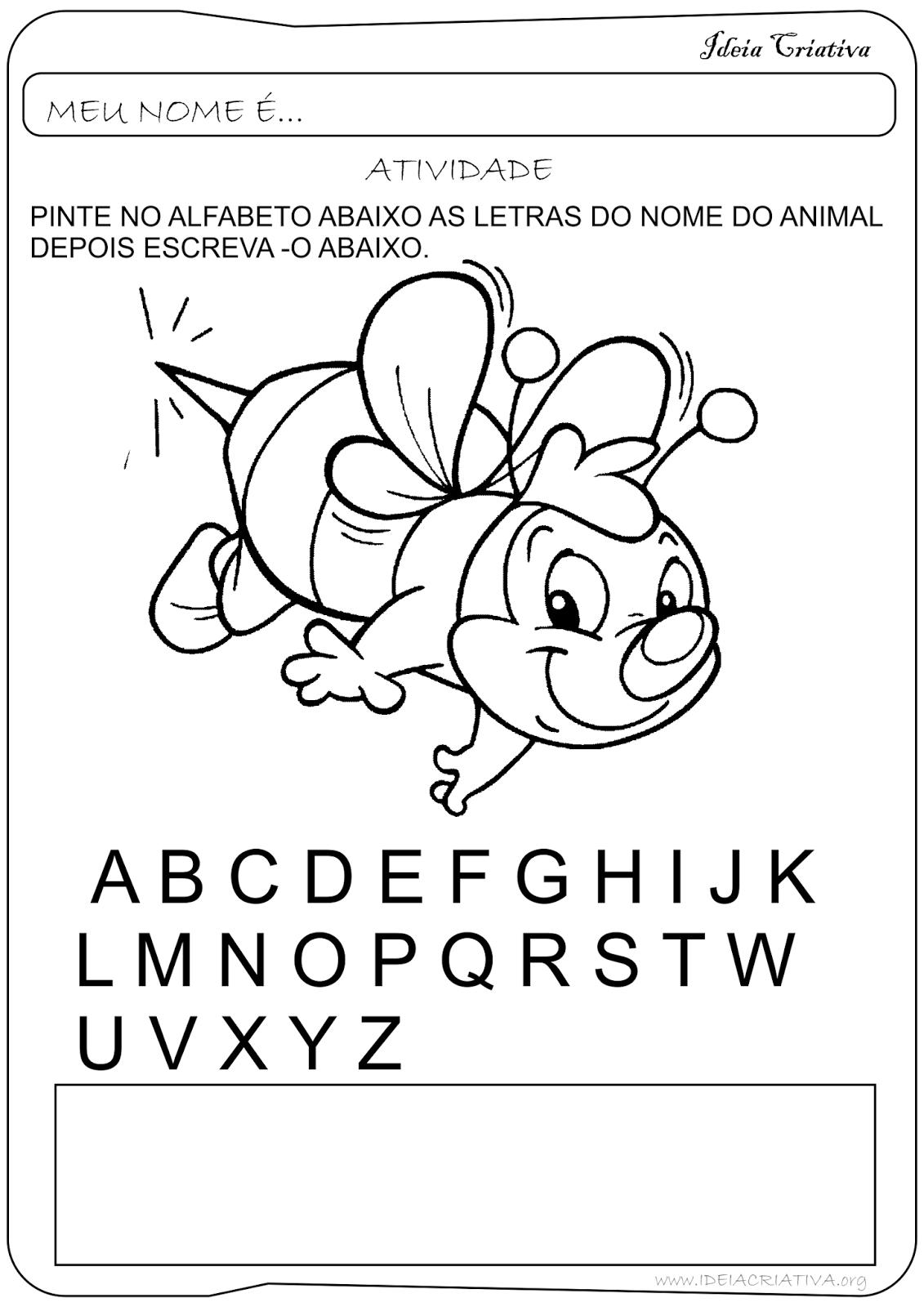 Atividade Letras do Alfabeto Educação Infantil