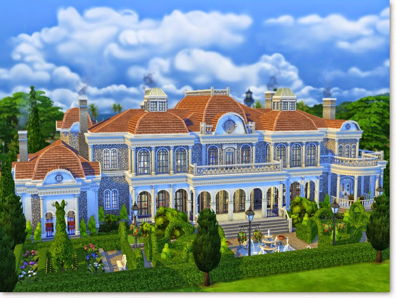 sims 3 how to build a mansion