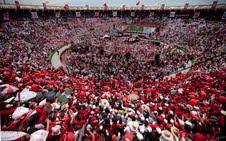 Enrique Peña Nieto se reúne con estructuras en Pachuca.