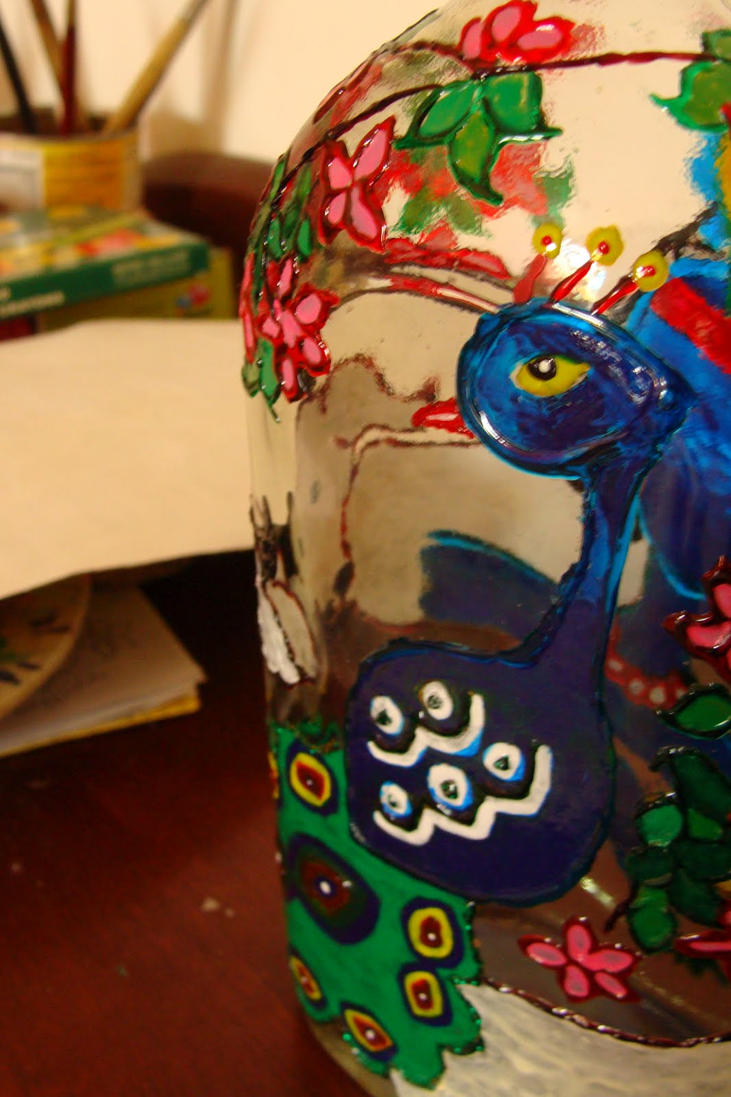 PEACOCK BOTTLE