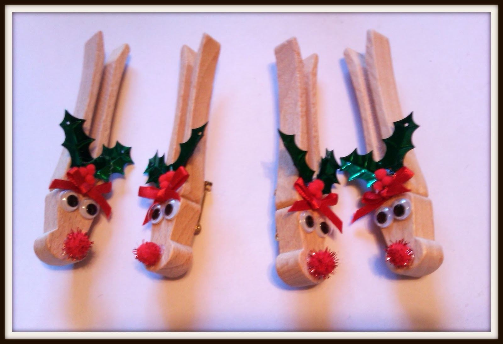 Double treble craft adventures clothespin reindeer pin or for Reindeer project