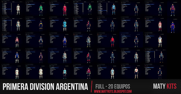 PES 2013 Kits Pack Liga Argentina 2012/13 Full by Maty