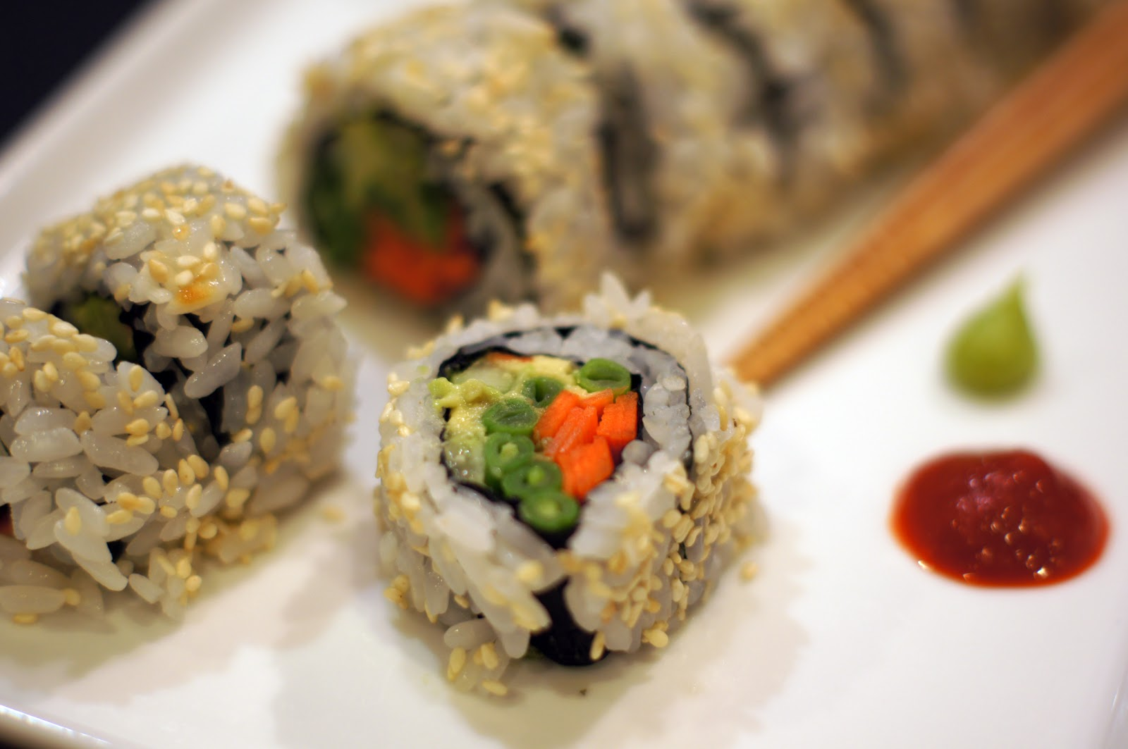Sutton Grace: vegetable sushi roll