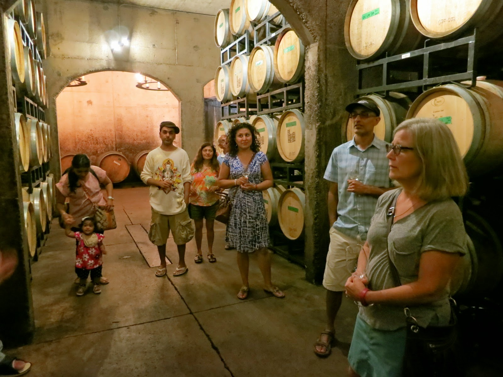 Barrel cellar at Creekside Estate Winery