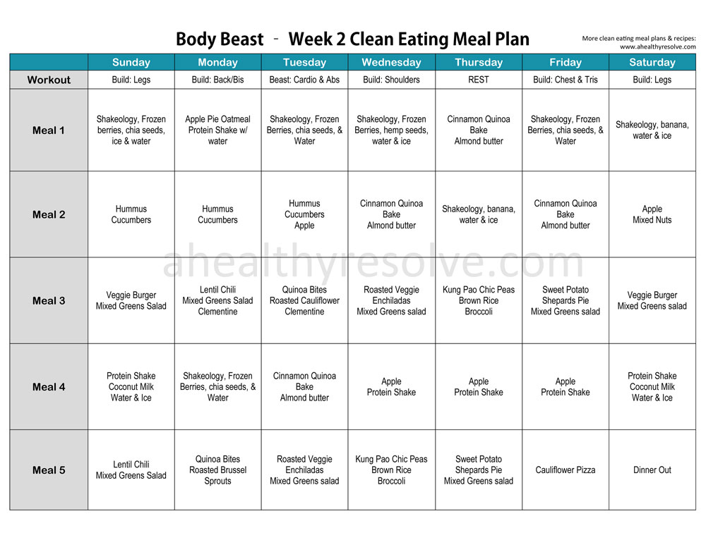 Body Beast Vegetarian Clean Eating Meal Plan Recipes Apple Pie Oatmeal