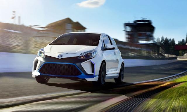 Toyota Yaris Hybrid-R concept track
