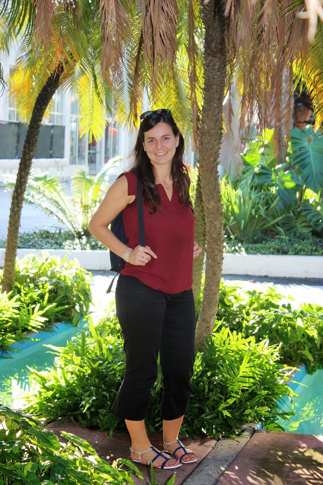 une touriste à Miami beach