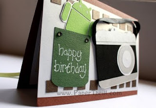 Android Camera handmade birthday card