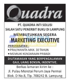 Lowongan Kerja Lampung, 16 November 2014 PT. Quadra Inti Solusi