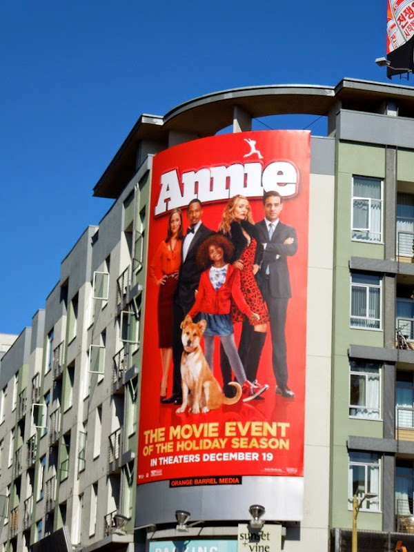 Annie 2014 movie remake billboard