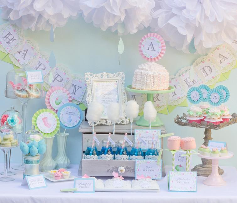 Aprils sweet showers themes autos weblog for Baby shower flower decoration