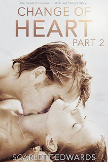 Cover Reveal: Change of Heart Part 2 by Scarlett Edwards