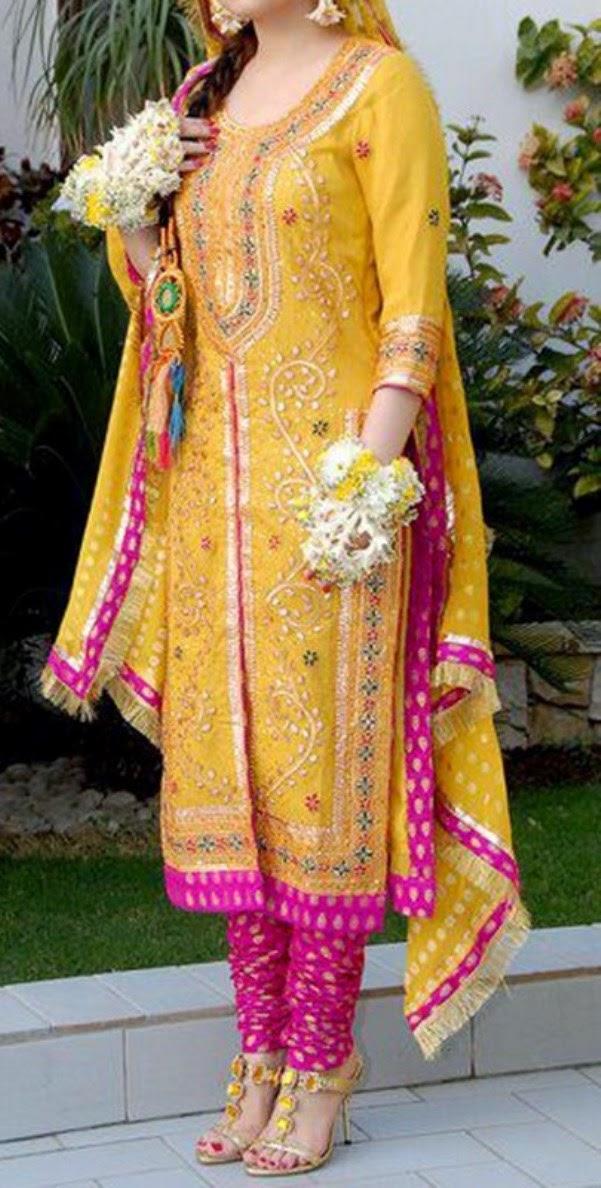 Pakistani Mehndi Dresses 2014 Pakistani Mehndi Designs 2014 For Girls News Fashion Styles