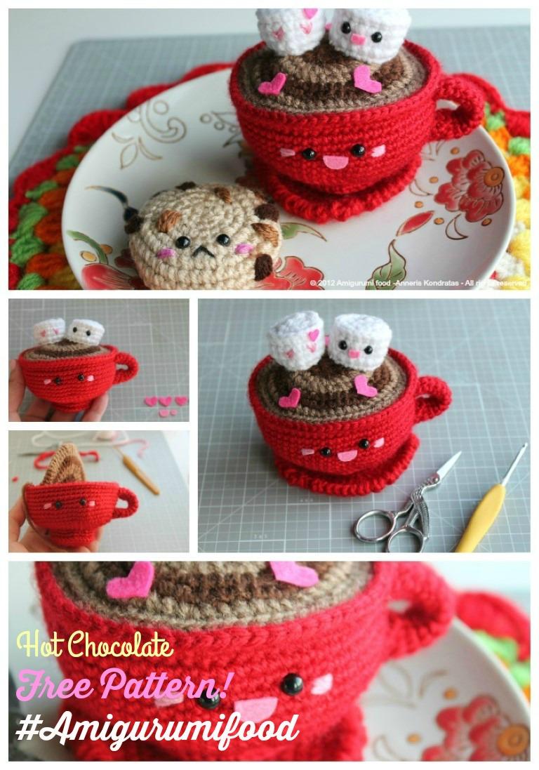 Amigurumi Patterns Free Food : Amigurumi Food: New Update Hot Chocolate San Valentines ...