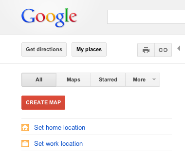 Google Map - Home & Work