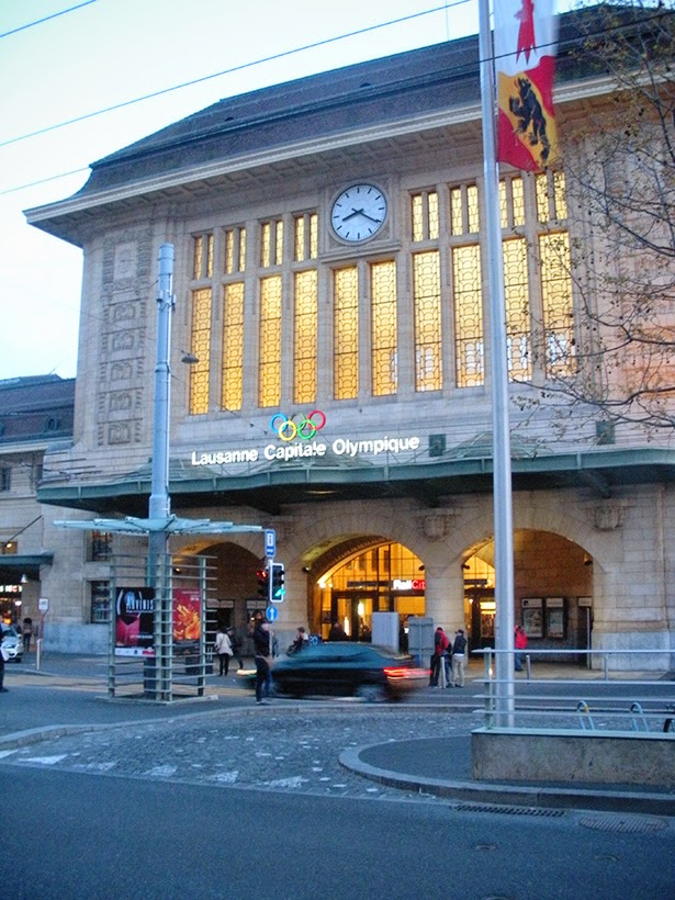 The main train station in Lausanne, Switzerland