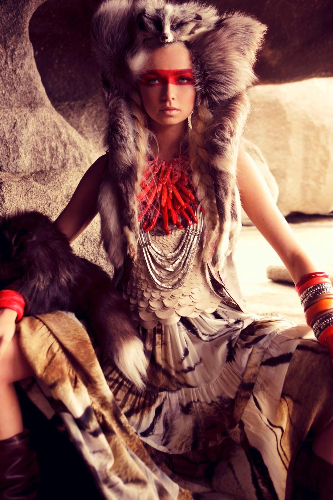 Фото девушка в образе индианки 12 фотография