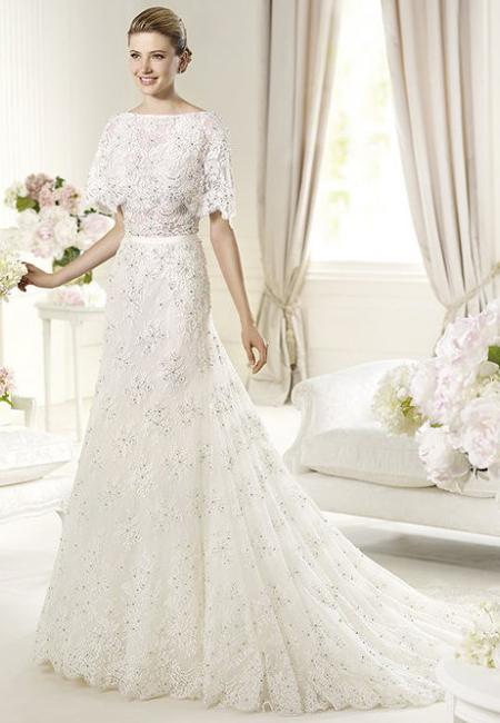 Дантелена сватбена рокля 2013 Elie By Elie Saab