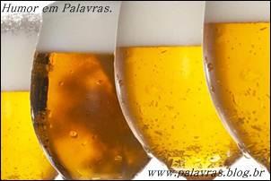 Palavras de humor. Os riscos da cerveja para os homens.