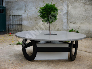 Quartz Garden Table