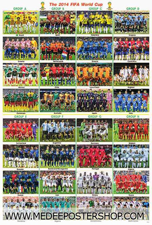 FOOT BALL WORLD CUP BRAZIL ALL TEAM