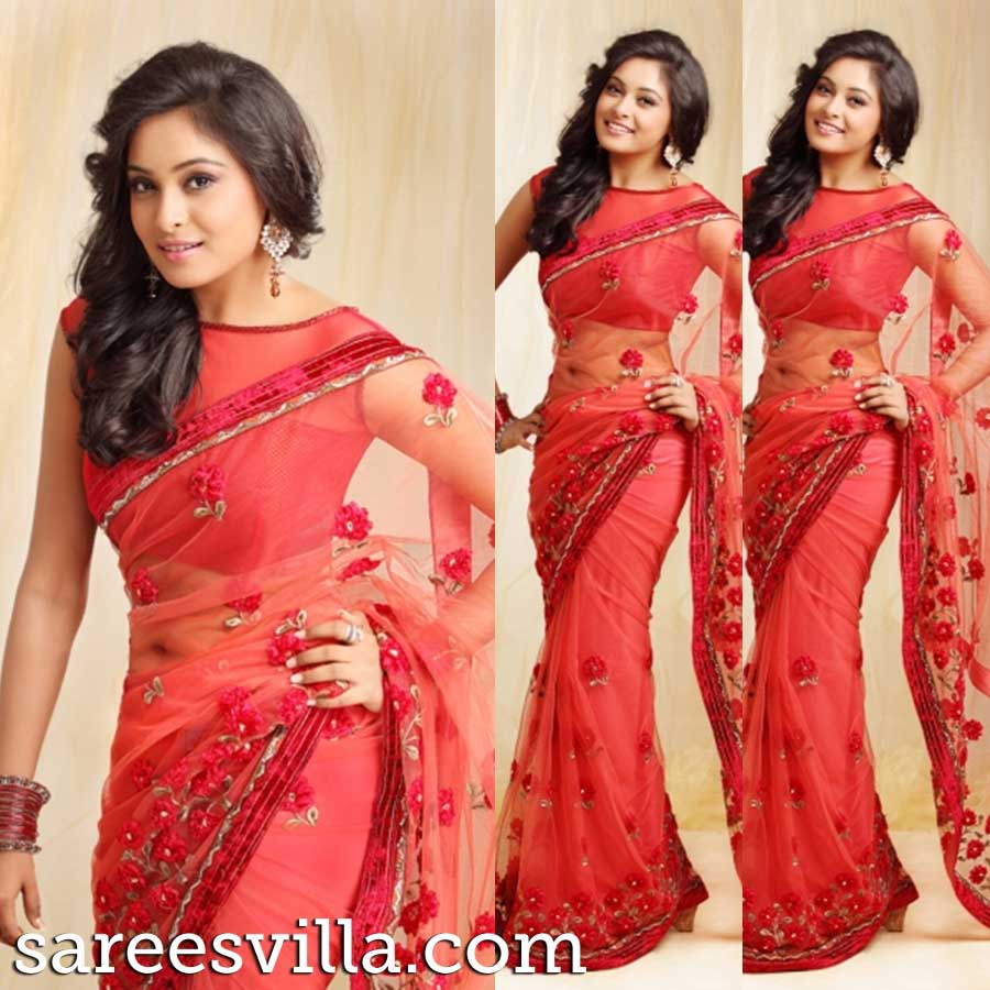 Latest saree blouse design neck - Boat Neck Saree Blouse Designs