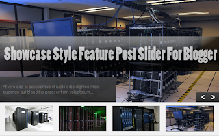 How To Add Showcase Style Feature Post Slider For Blogger