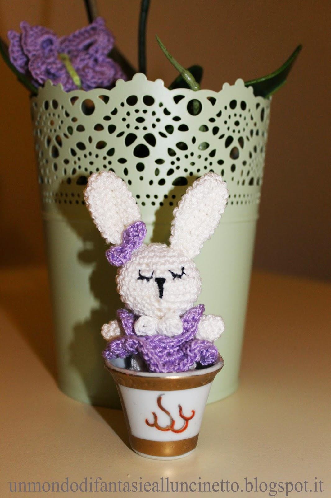 Coniglio Amigurumi Uncinetto : Un Mondo di Fantasie allUncinetto di Lisa : Coniglio ...
