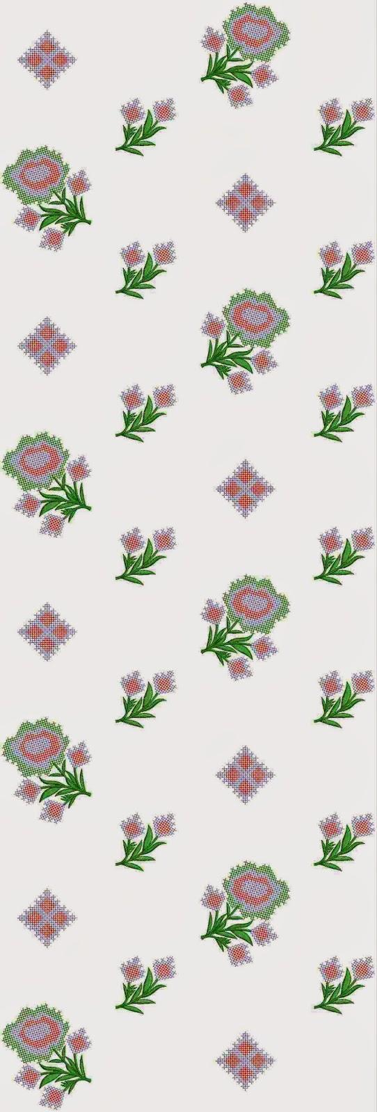 Franse tradisionele borduurwerk Oral patroon