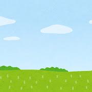 草原のイラスト(背景素材)