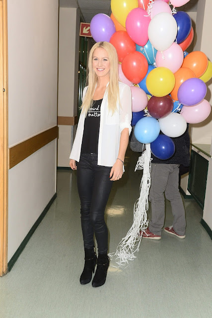 Tennis Player @ Urszula Radwanska Promotes the charity campaign 'Noble package' Warsaw, Poland