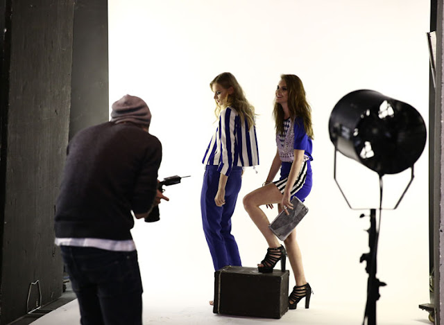 Behind the scenes of the byrose london spring summer 13 lookbook