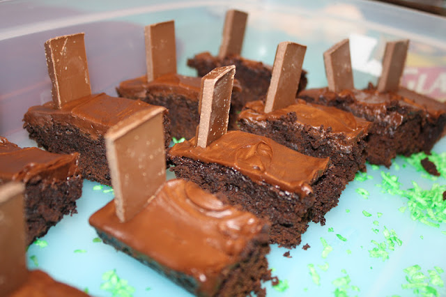Tombstone Brownies Tombstone brownies