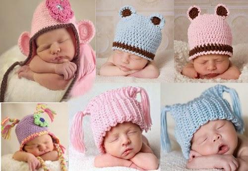 (gorros de lana para bebes)