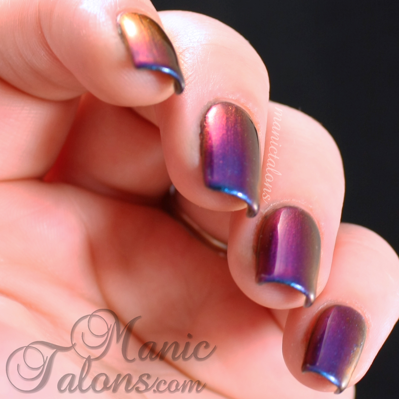 Girly Bits Wave the Sails Swatch over Black Gel Polish
