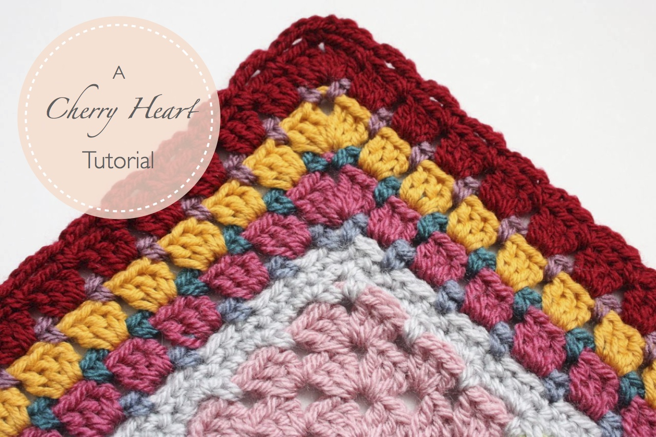 Crocheting Tutorials : Cherry Heart: Blog: Grannie Patches Border Tutorial