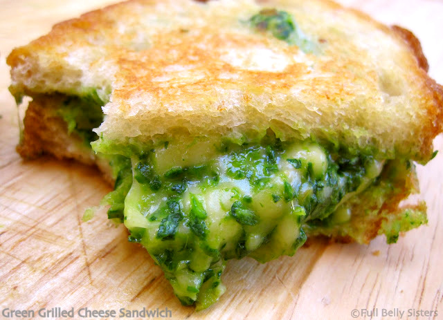 ... Green Grilled Cheese Sandwich - Spinach, Avocado, and Gouda Goodness