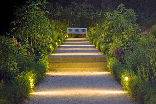 Dolce hogar consejos para iluminar cada zona de tu jard n - Apliques de jardin ...