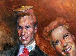 Prince harry and William portrait by new celebs wallpapers