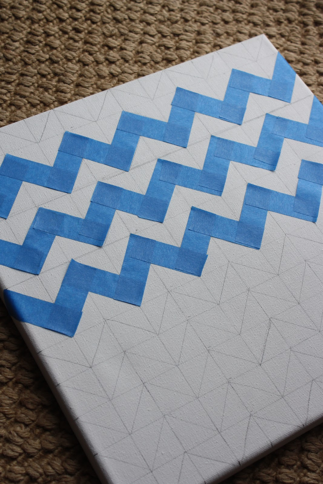 A simple kind of life how to chevron painted canvas for How to make a chevron template