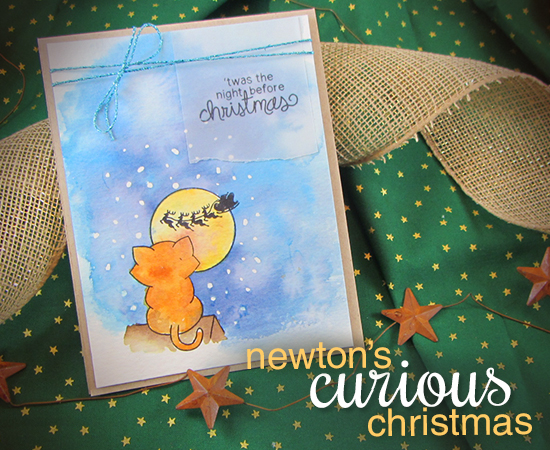 Newton's Curious Christmas Stamp set by Newton's Nook Designs - Cat Christmas Card by Jennifer Jackson