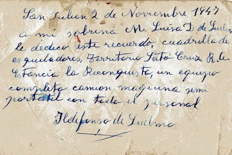 Carta de un Inmigrante primera mitad del Siglo XX