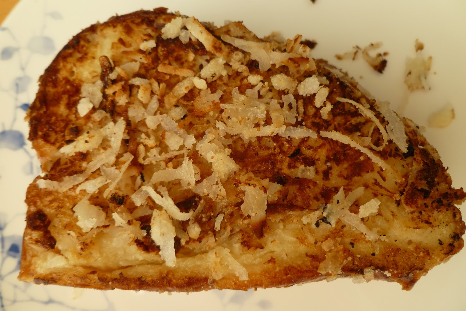 Coconut-Stuffed French Toast - made August 24, 2013, original recipe