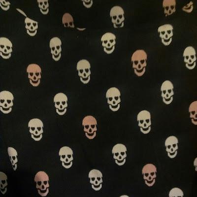 Skull dress New Look print up close